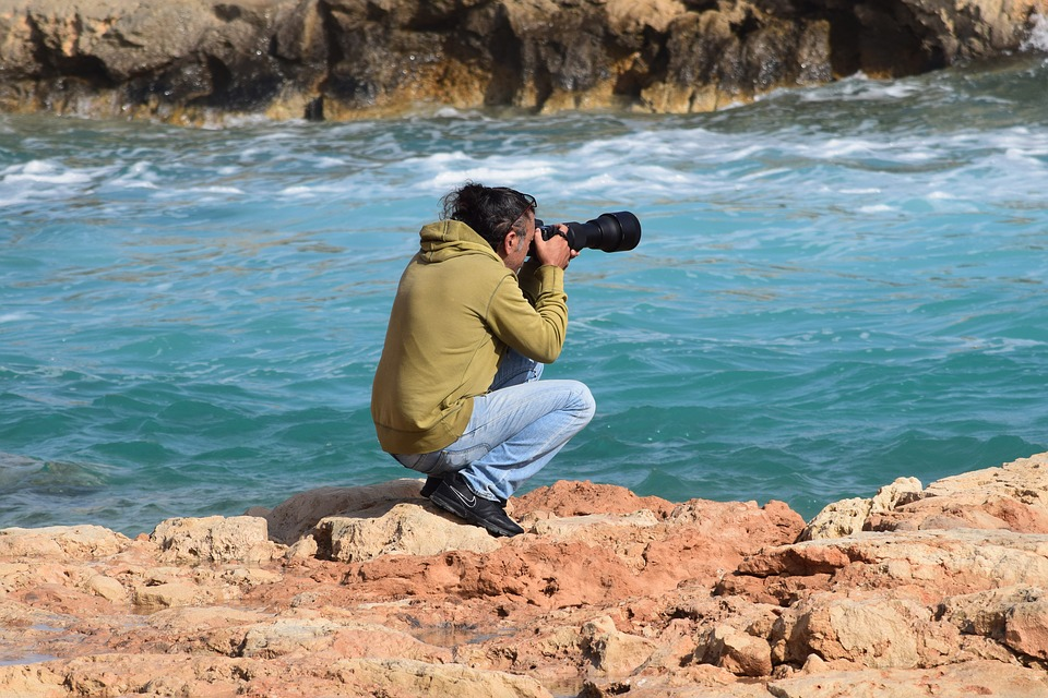 fotograf u moře