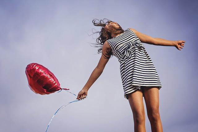 srdíčkový balonek