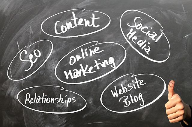 součásti on-line marketingu na tabuli